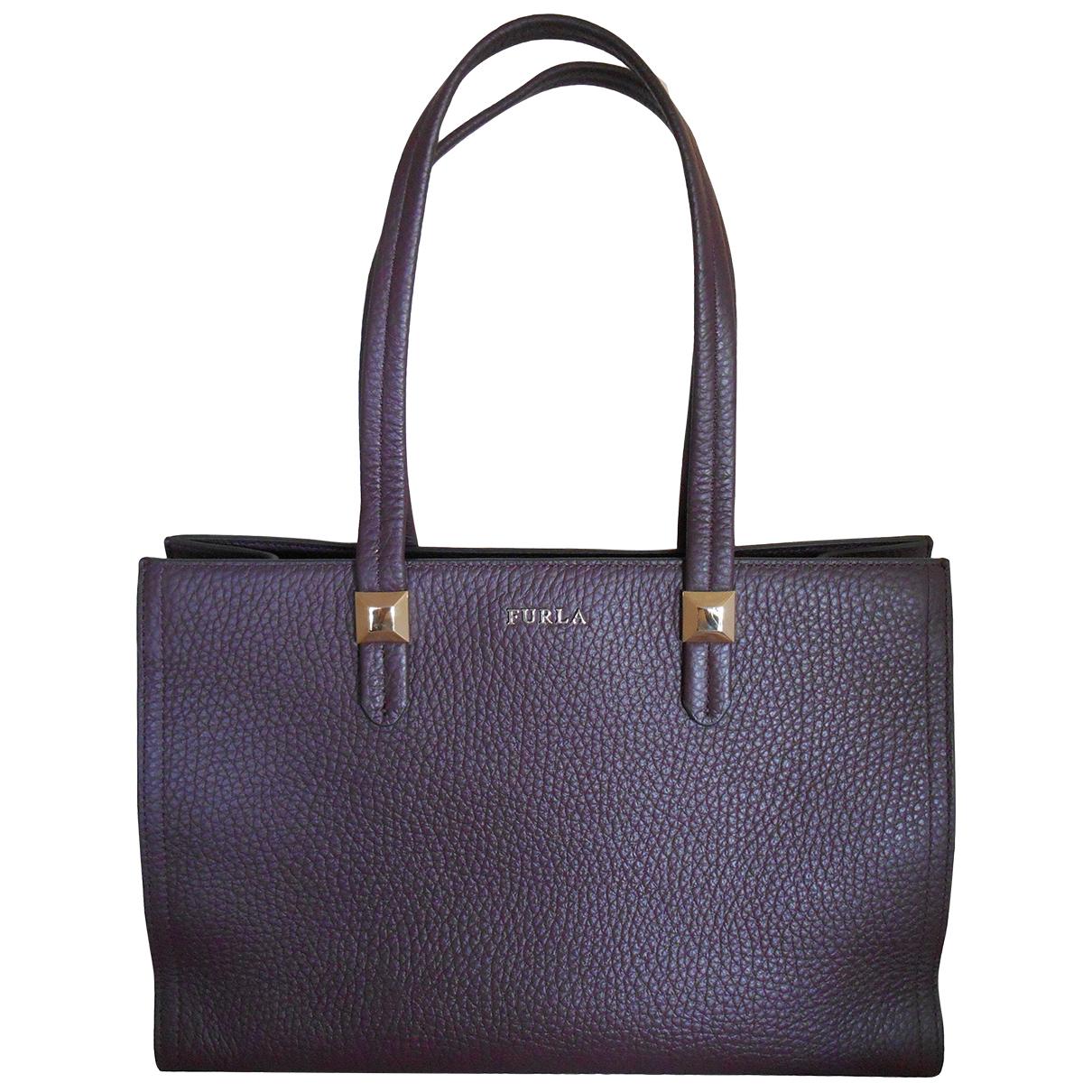 Furla \N Handtasche in  Lila Leder