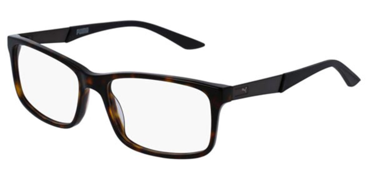 Puma PU0074O 010 Men's Glasses Tortoise Size 56 - Free Lenses - HSA/FSA Insurance - Blue Light Block Available
