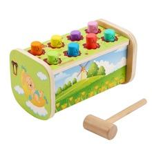 2 Stuecke Baby Spielzeug mit Hamster Design & Hammer