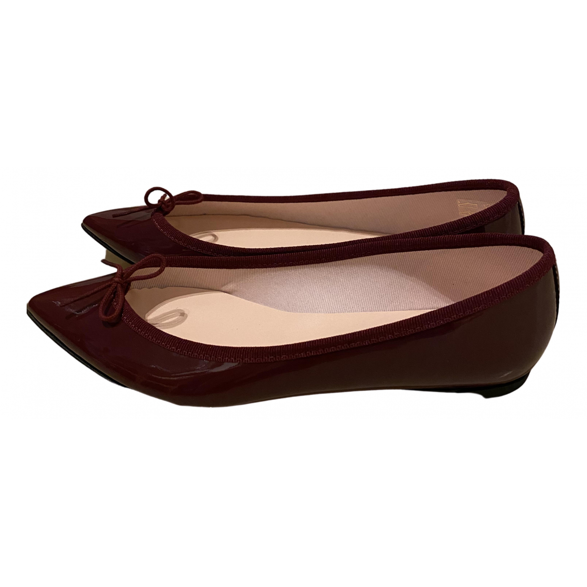 Repetto \N Burgundy Patent leather Ballet flats for Women 39.5 EU