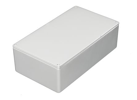 RS PRO White Die Cast Aluminium Enclosure, IP54, Shielded, 112 x 62 x 30.5mm