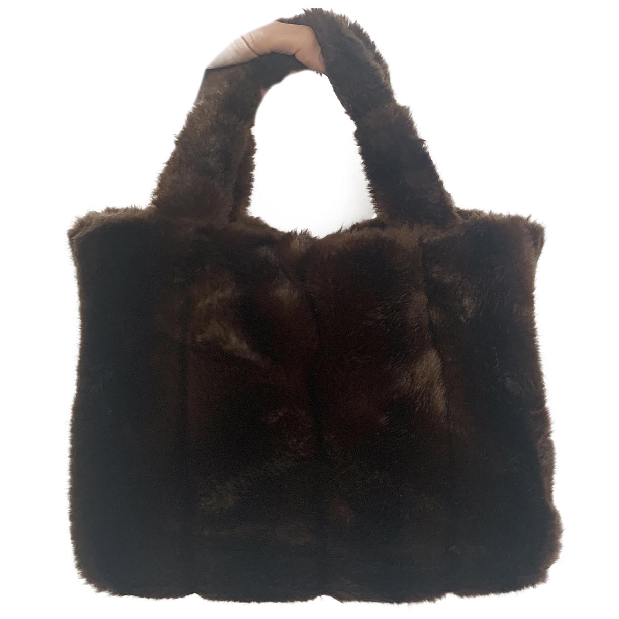 Staud Deneuve Brown Faux fur handbag for Women \N