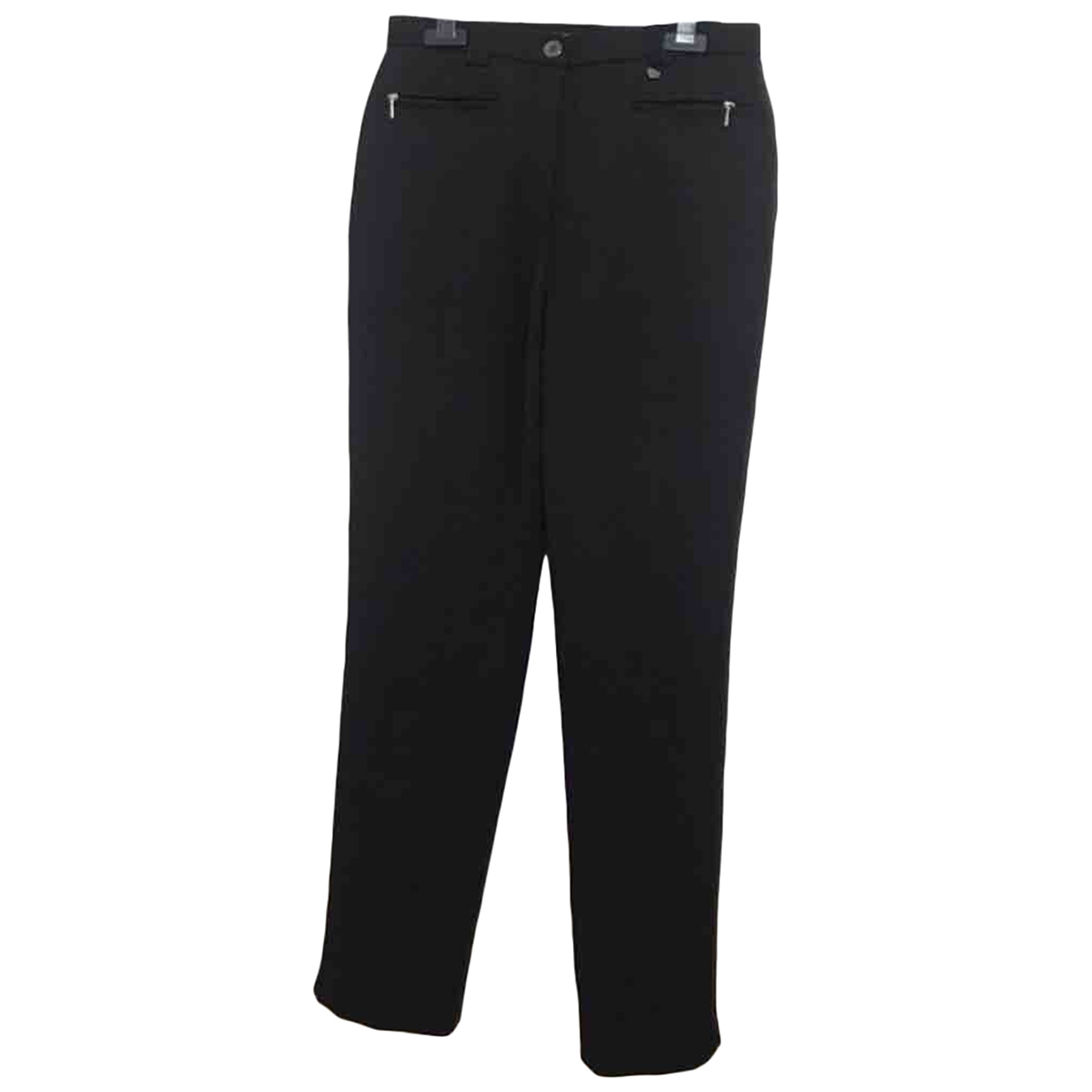 Non Signé / Unsigned \N Black Spandex Trousers for Women 38 FR