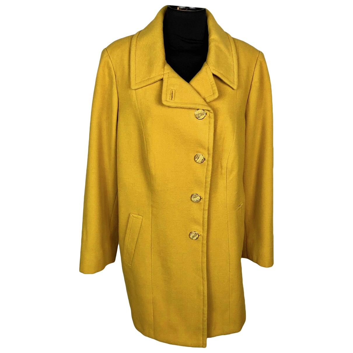 Max Mara \N Yellow Wool coat for Women M International