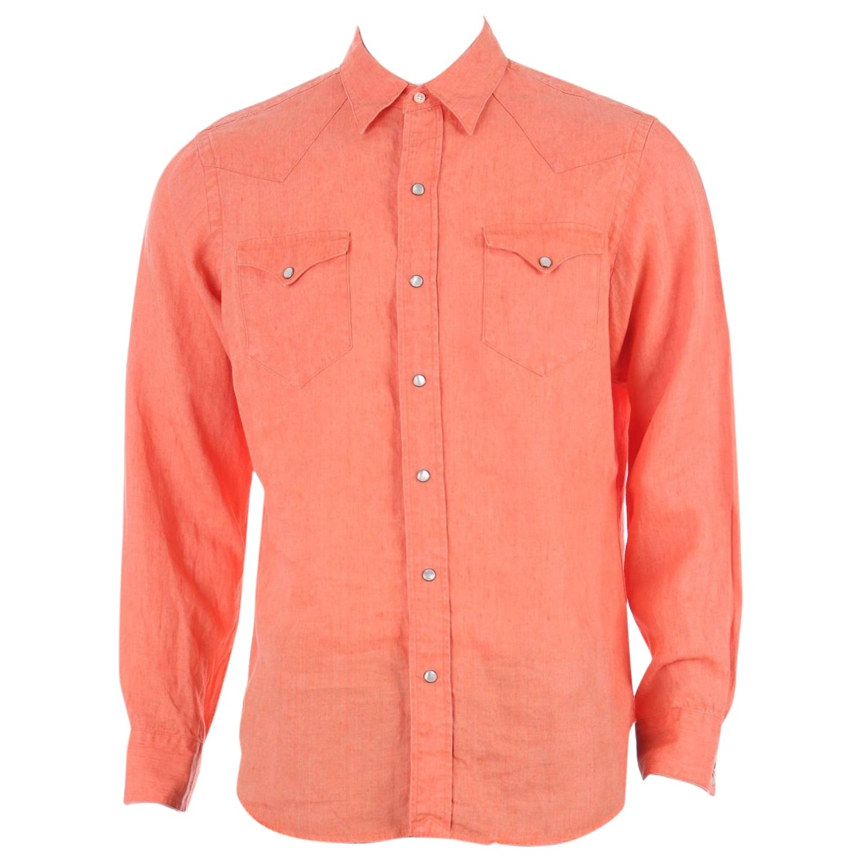 Polo Ralph Lauren - Chemises   pour homme en lin - orange