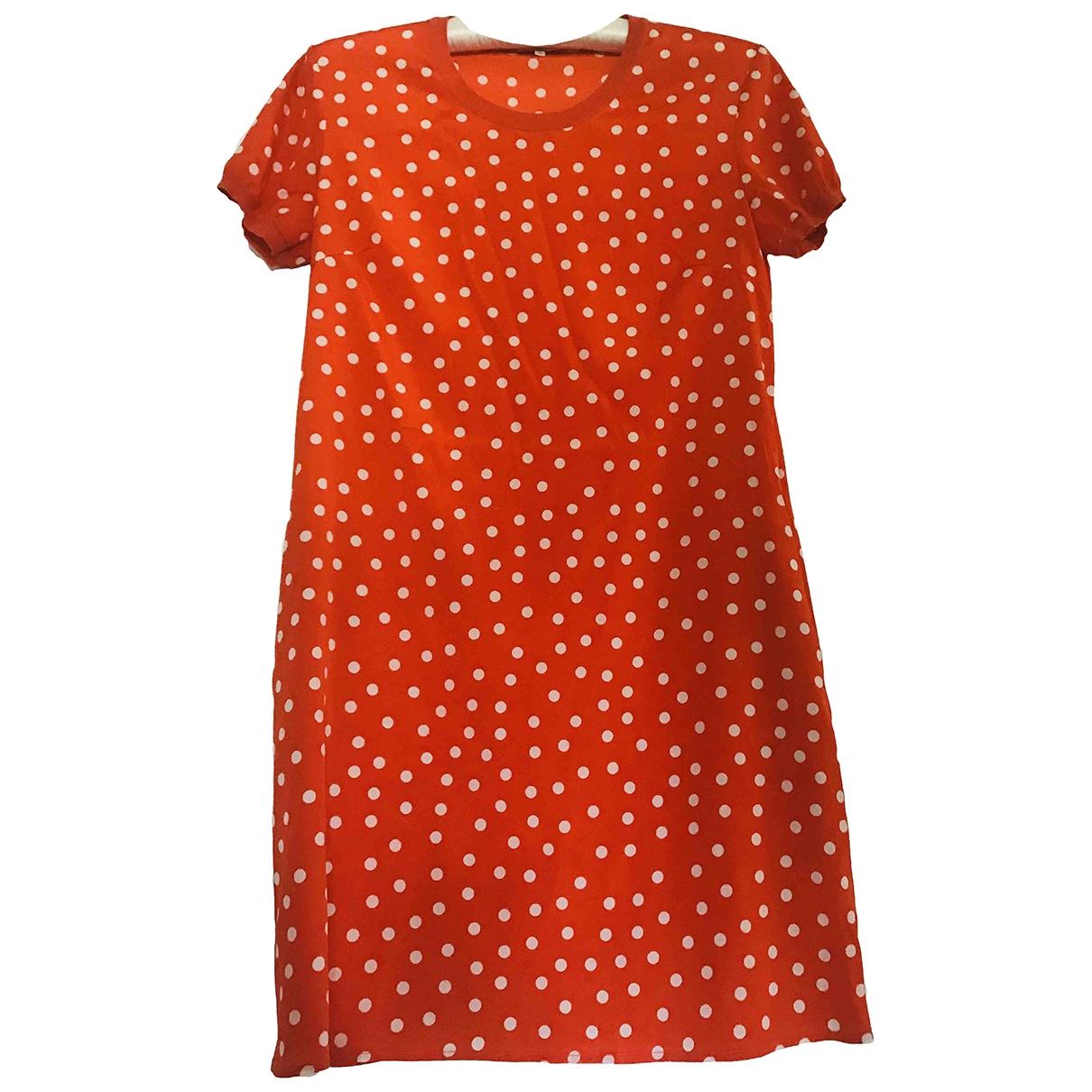 Parosh \N Kleid in  Orange Seide