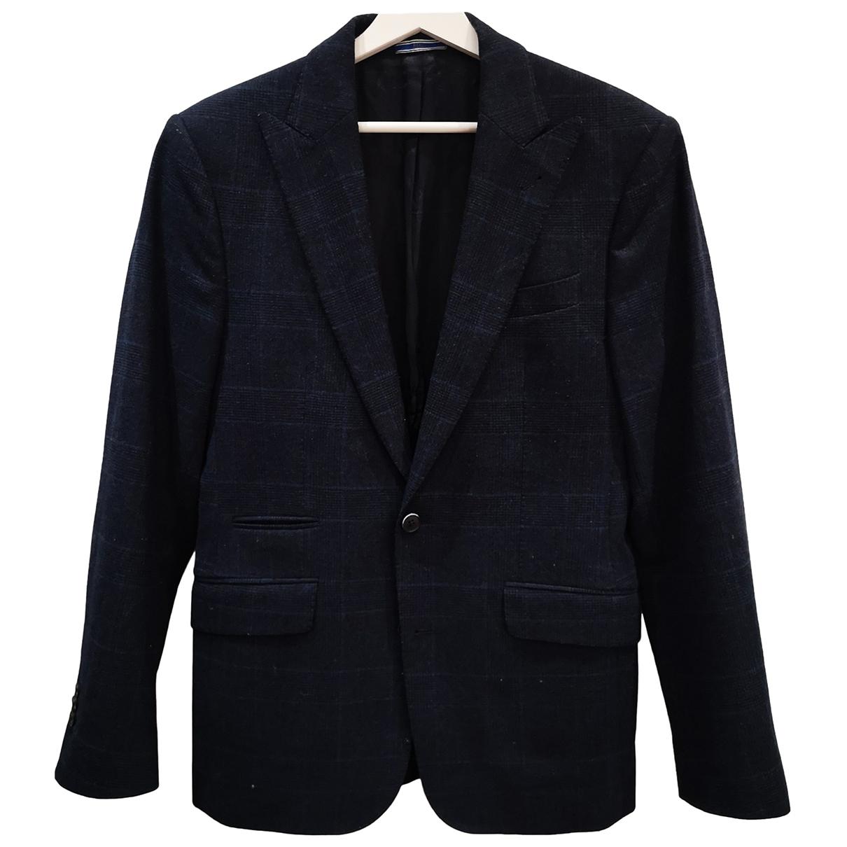 Mango \N Blue Wool jacket  for Men 38 UK - US