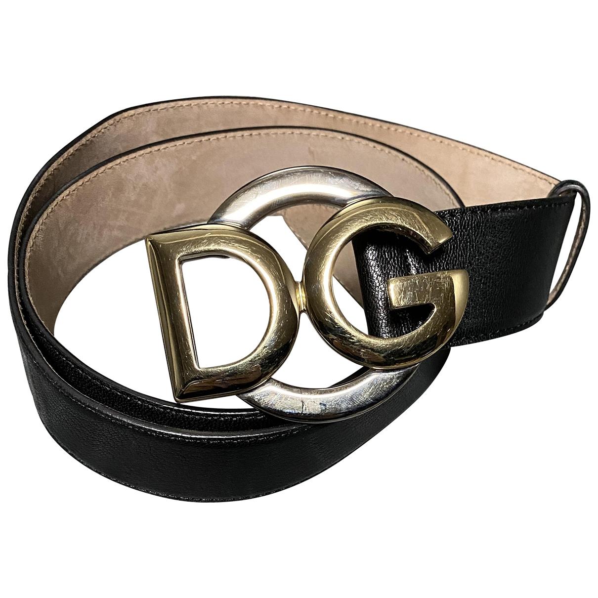 Dolce & Gabbana - Ceinture   pour femme en cuir - noir