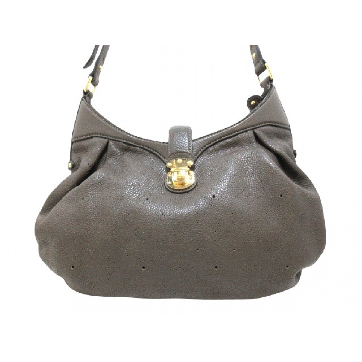 Louis Vuitton Mahina Grey Leather handbag for Women \N