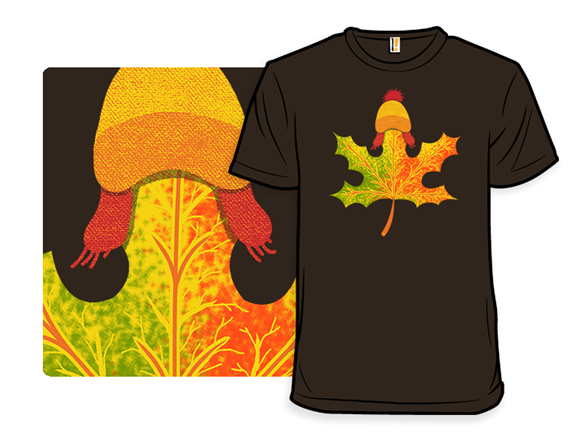 Autumn Leaf On The Wind T Shirt