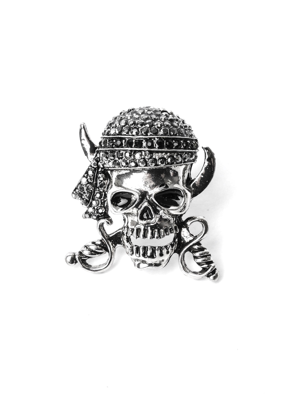 Kostuemzubehor Ring Piratenschaedel silber