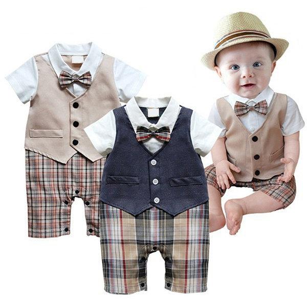 Cotton Boy Gentleman Rompers Suit For 6-24M
