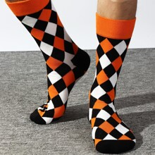 Calcetines de hombres con patron geometrico