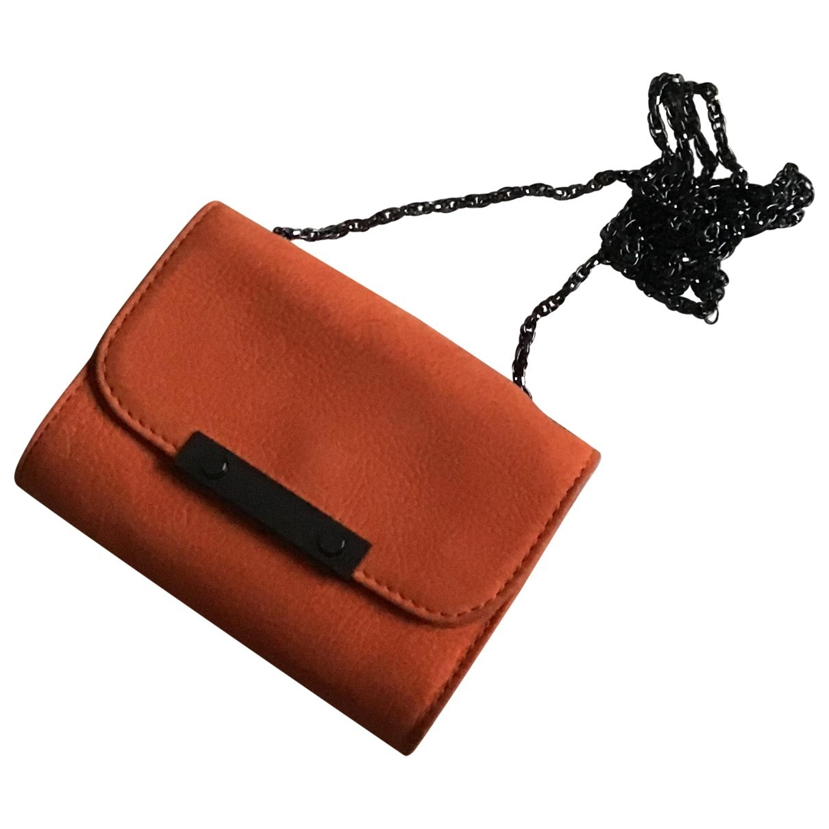 Comptoir Des Cotonniers - Pochette   pour femme en cuir - orange