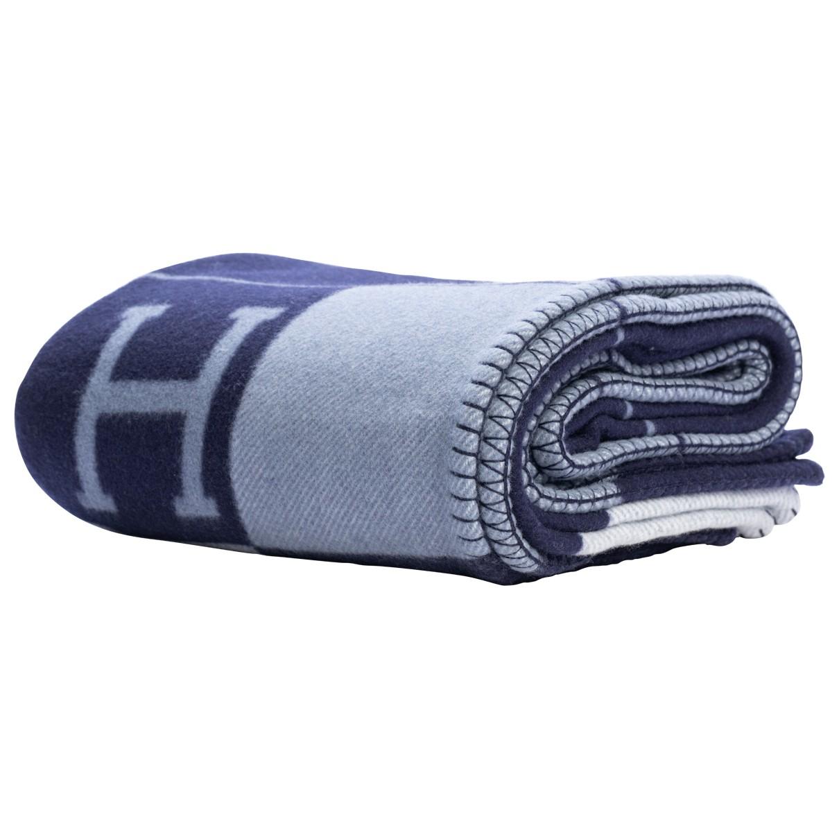 Hermes Avalon Heimtextilien in  Blau Wolle