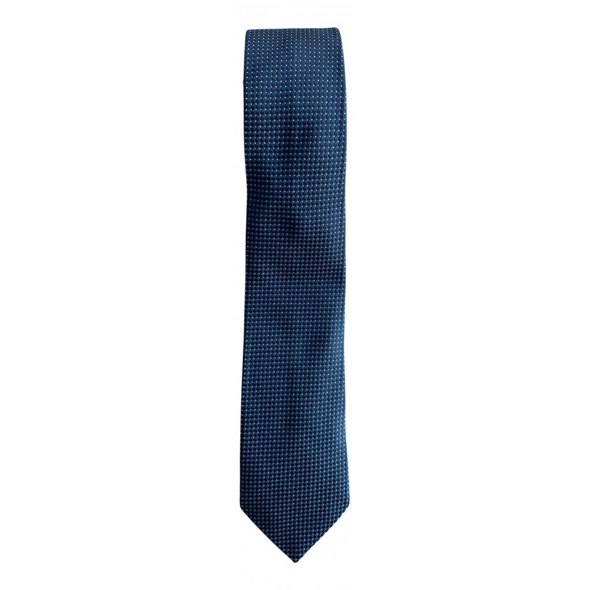 Armani Collezioni - Cravates   pour homme en soie - noir