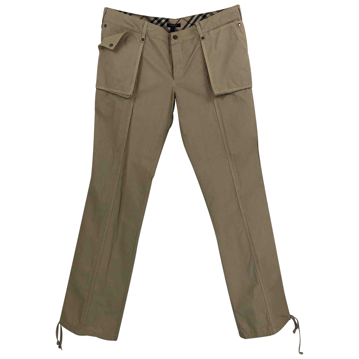 Burberry \N Beige Cotton Trousers for Women 12 UK
