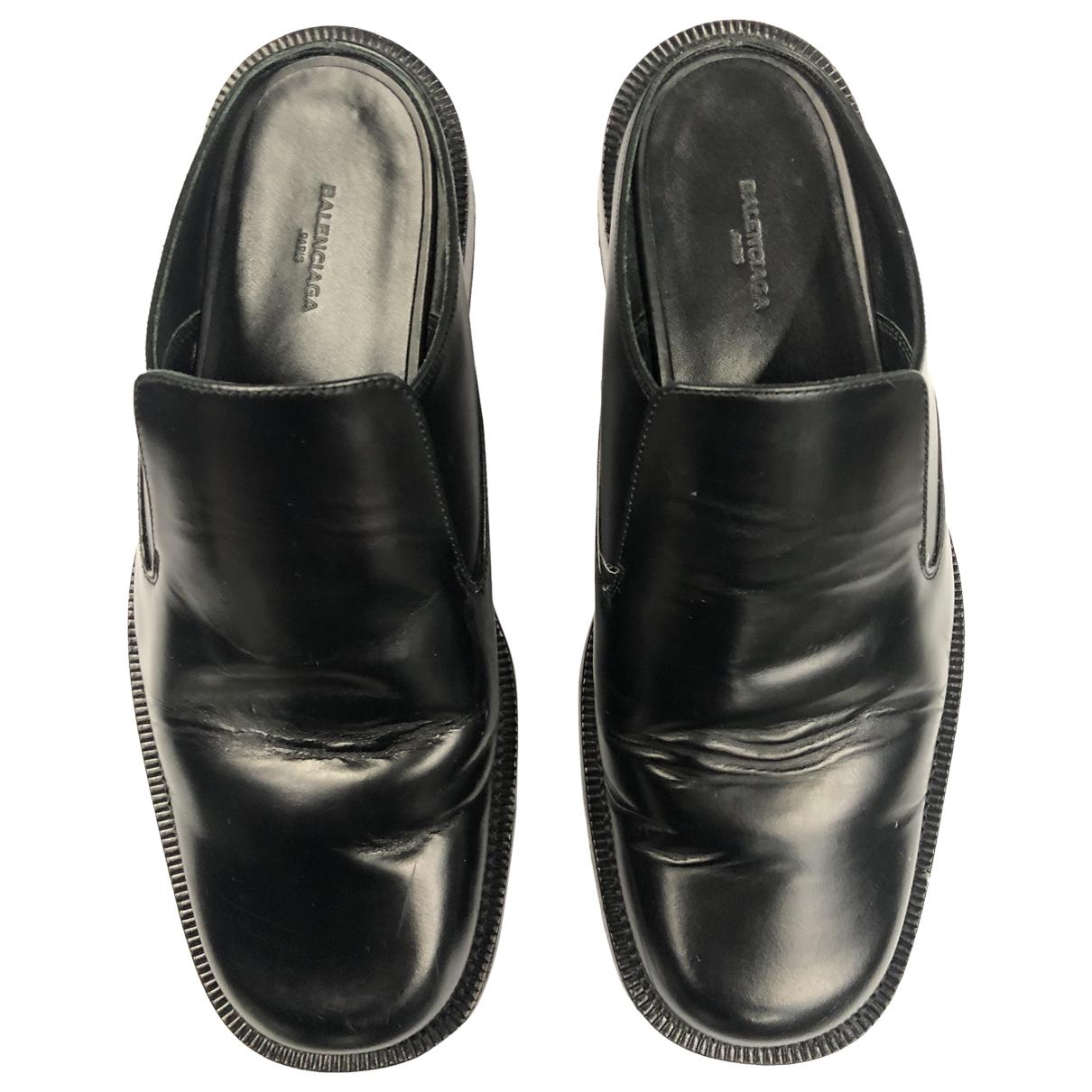 Balenciaga - Mocassins   pour homme en cuir - noir