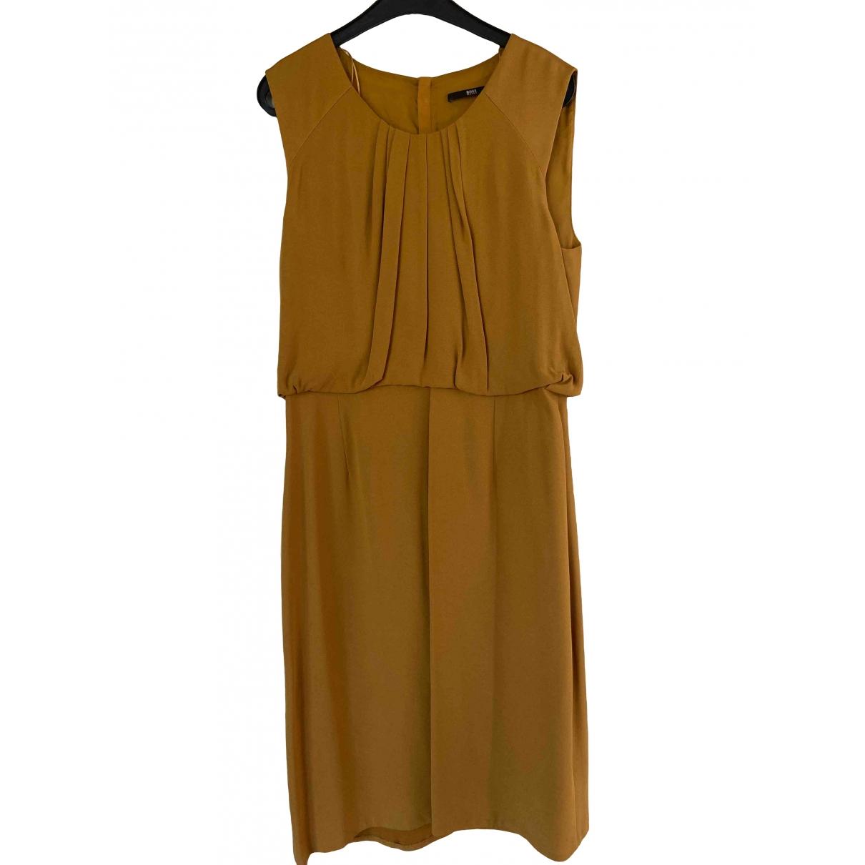 Boss \N Kleid in  Gelb Viskose