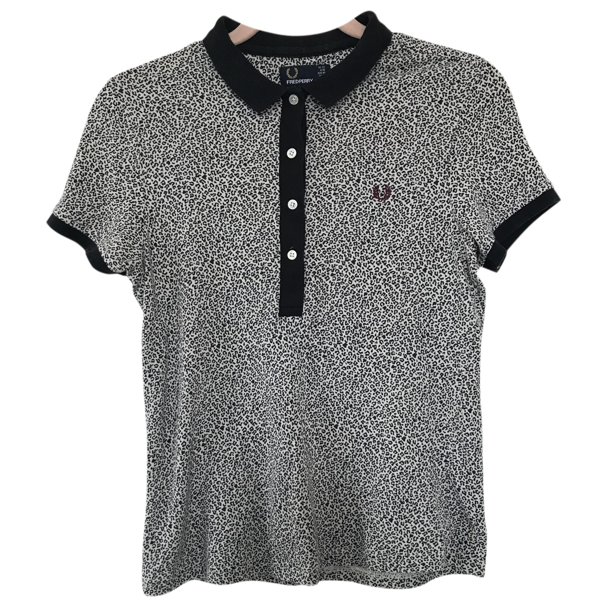 Fred Perry N Black Cotton  top for Women 12 UK