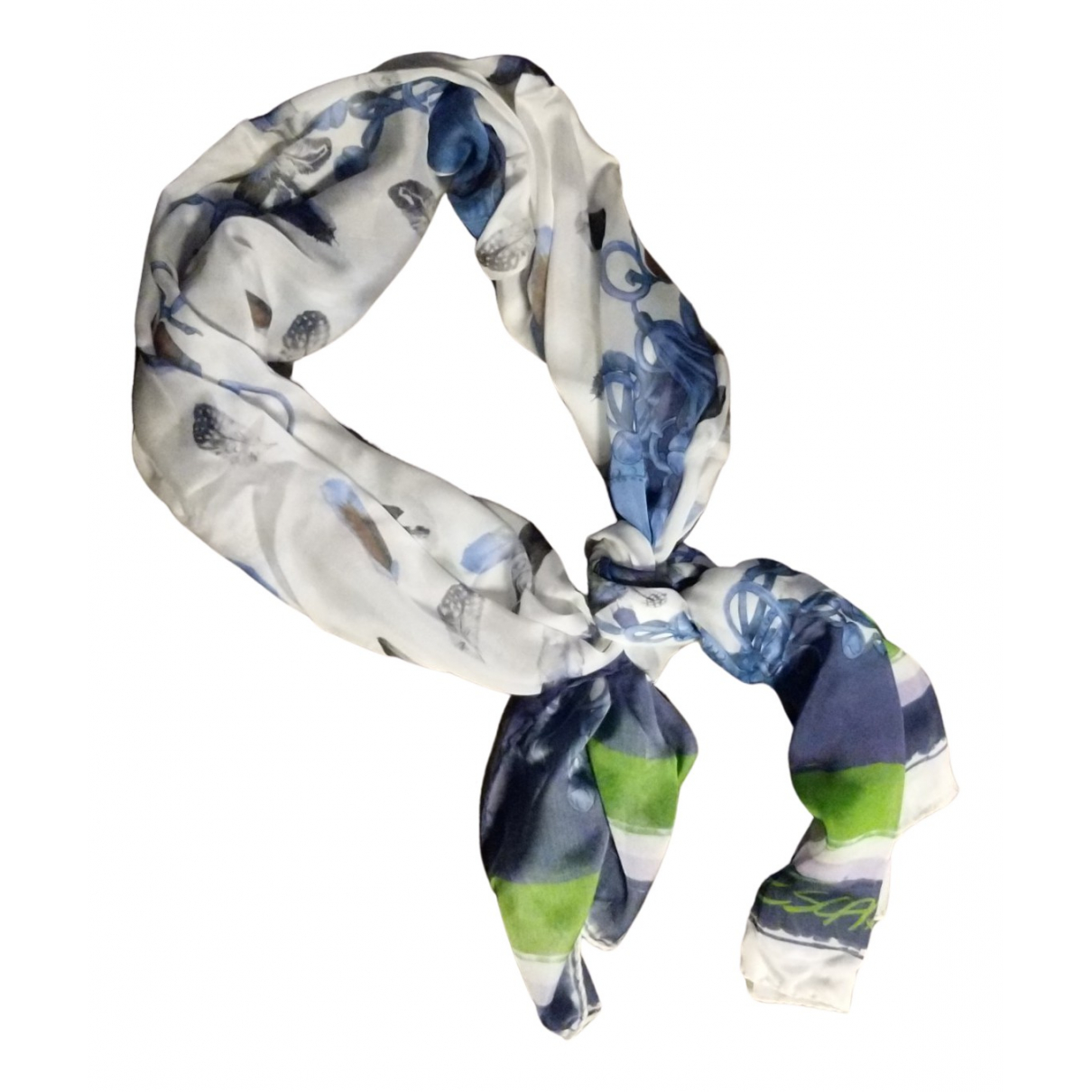 Escada N Blue Silk scarf for Women N