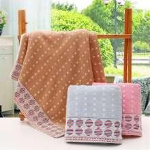 1pc Dot Print Bath Towel