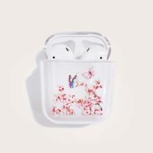 Airpods Schutzhuelle mit Schmetterling & Blumen Muster
