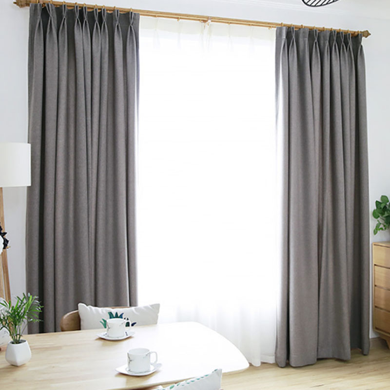 Cotton and Linen Texture Blackout Windtight Curtains with Environment-Friendly and Pollution-Free Material No Pilling No Fading No off-lining