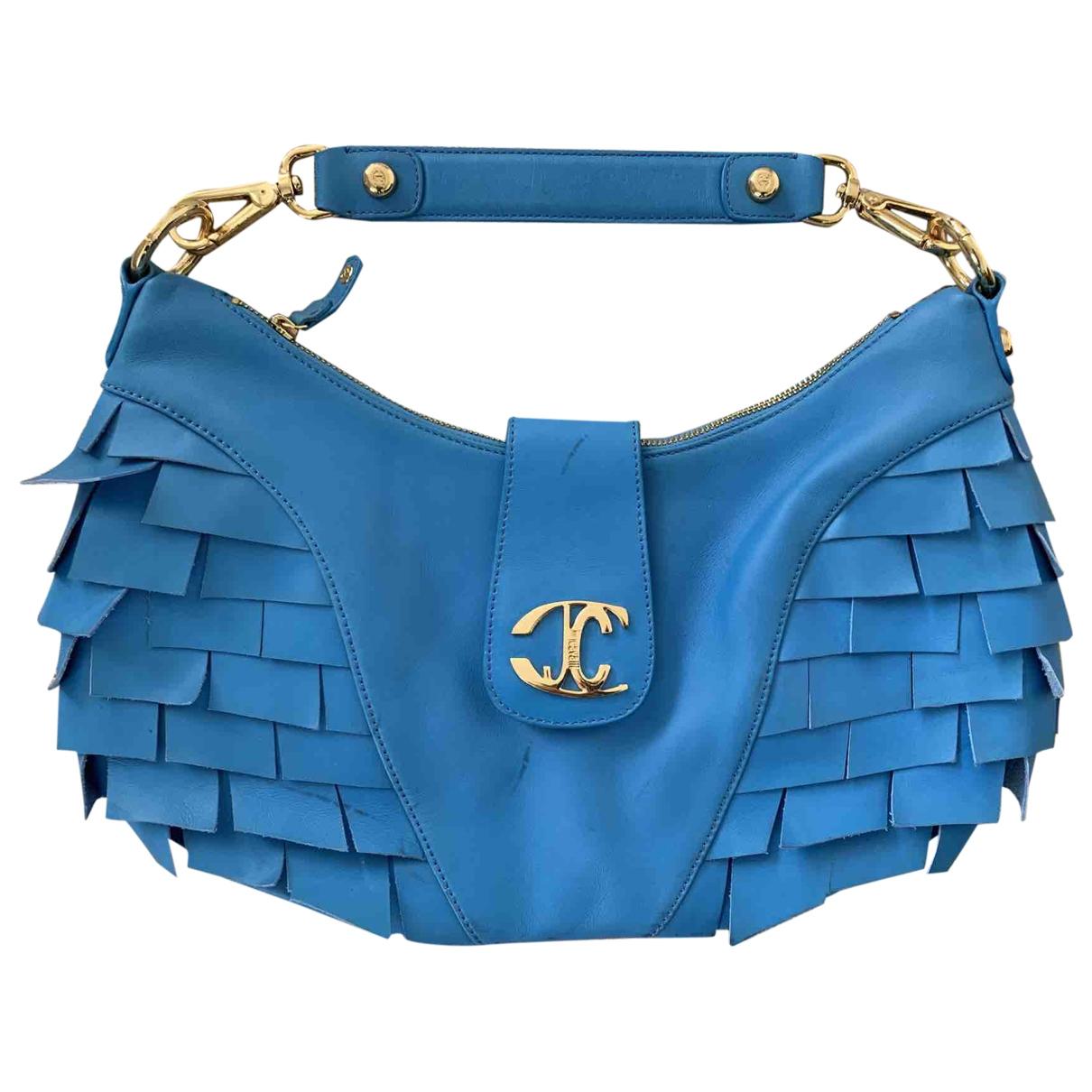 Just Cavalli \N Handtasche in  Blau Leder