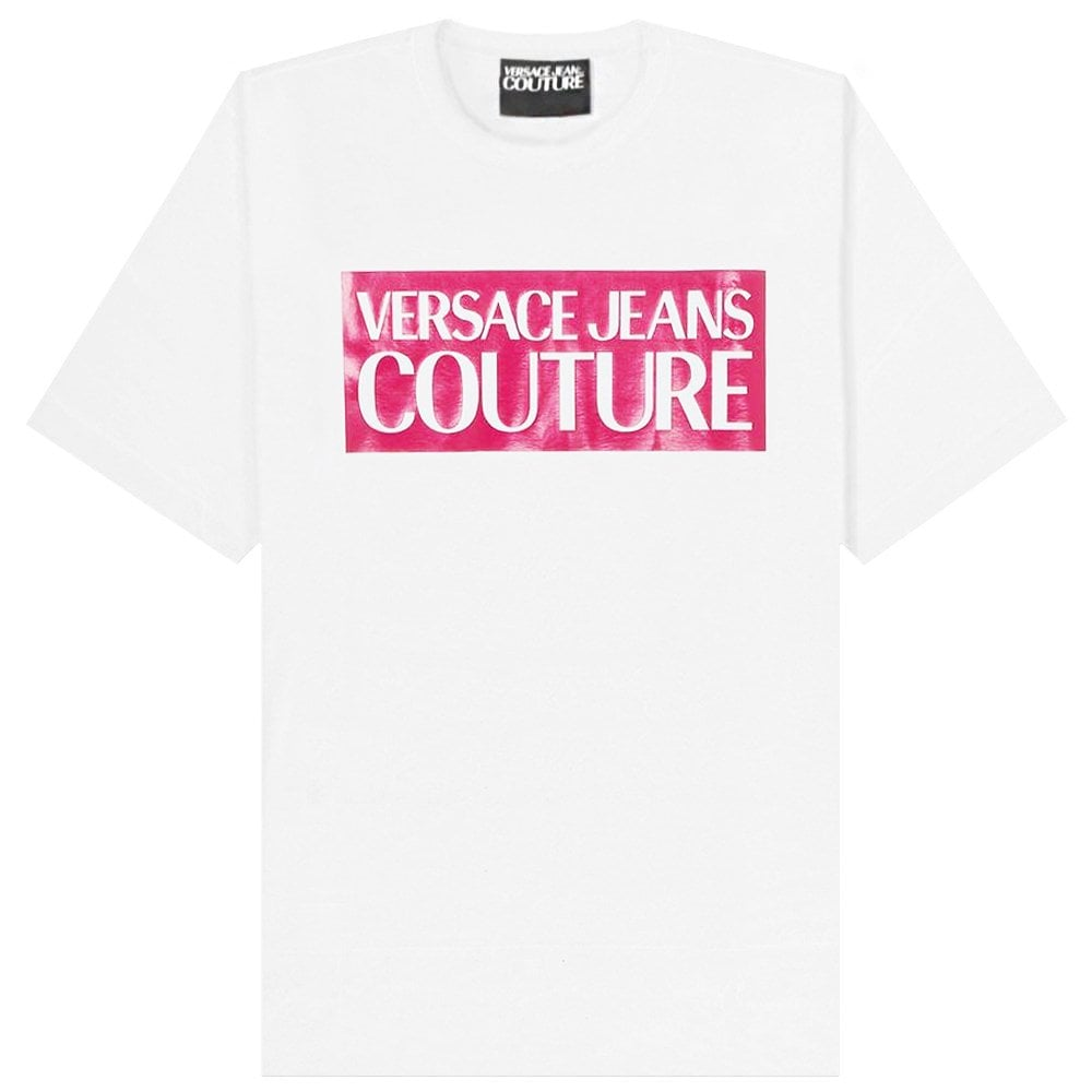 Versace Jeans Couture Printed Logo T-Shirt Colour: WHITE, Size: EXTRA LARGE