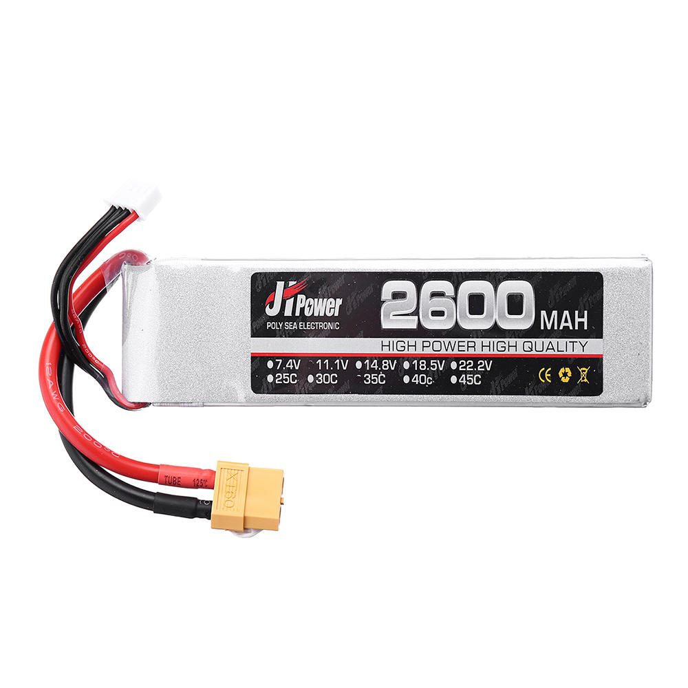 JH Lipo RC Car Battery 2600mah 3s 35c 11.1v T/XT60 Plug For 1/10 RC Model 28.2*34*118mm