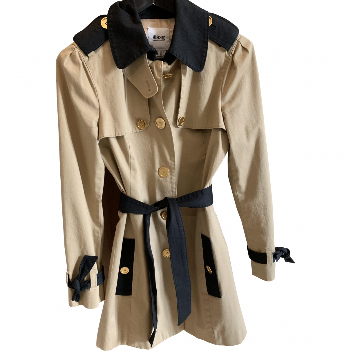 Moschino Cheap And Chic \N Camel Cotton Trench coat for Women 42 IT