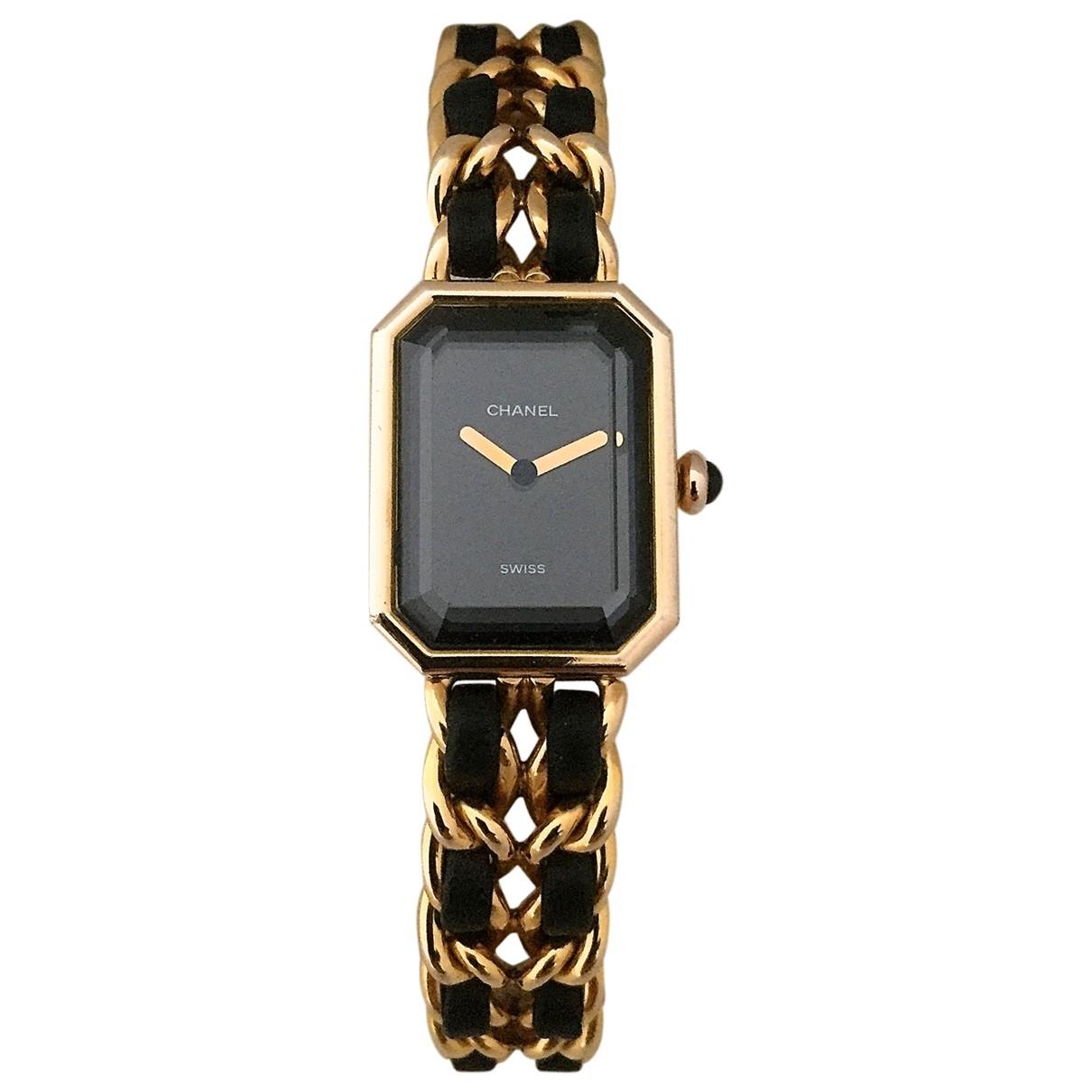 Chanel - Montre Premiere pour femme en plaque or - noir