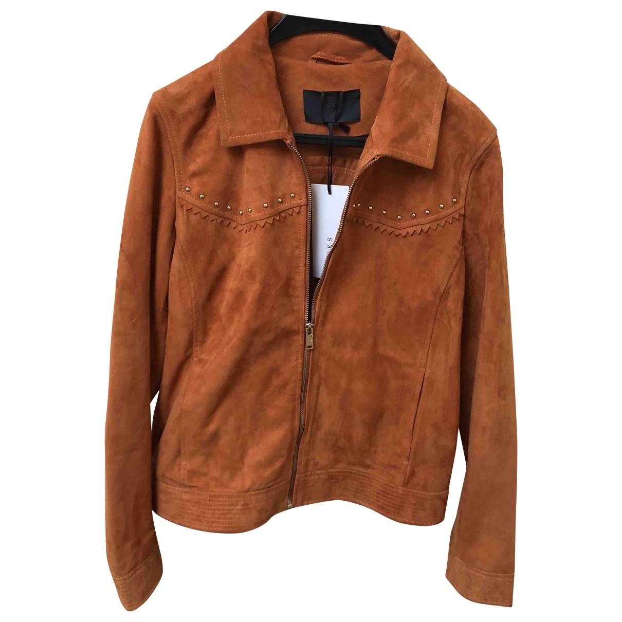 Ikks - Veste   pour femme en cuir - orange