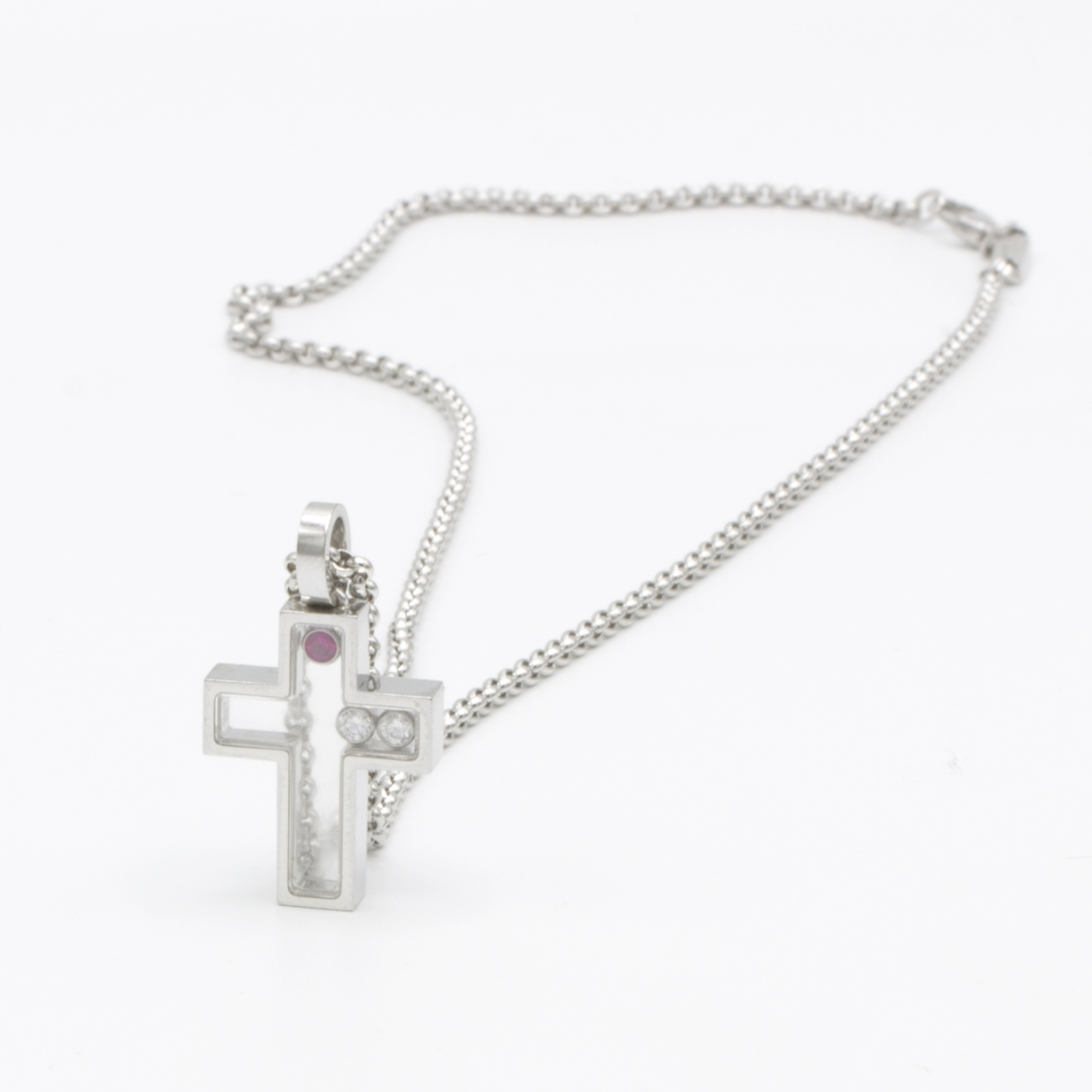 Chopard Happy Diamonds Kette in  Silber Weissgold