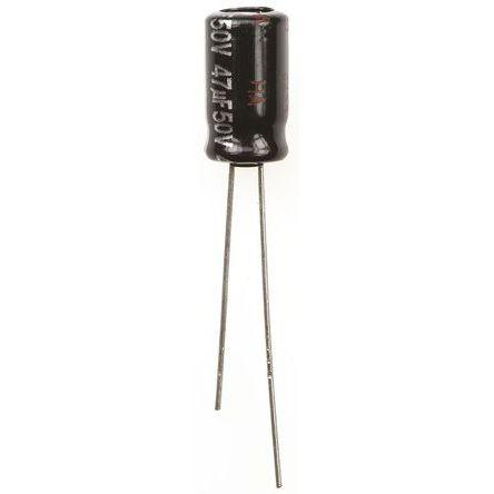 Panasonic 47μF Electrolytic Capacitor 50V dc, Through Hole - ECA1HHG470 (5)