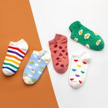 5 Paare Socken mit Geo Muster