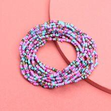Colorful Beaded Layered Bracelet