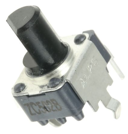 Alps Alpine 1 Gang Rotary Potentiometer with an 6 mm Dia. Shaft - 5kΩ, ±20%, 0.05W Power Rating, Linear, Through Hole