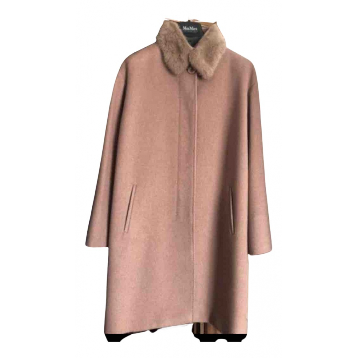 Max Mara Studio N Pink Wool coat for Women 46 IT