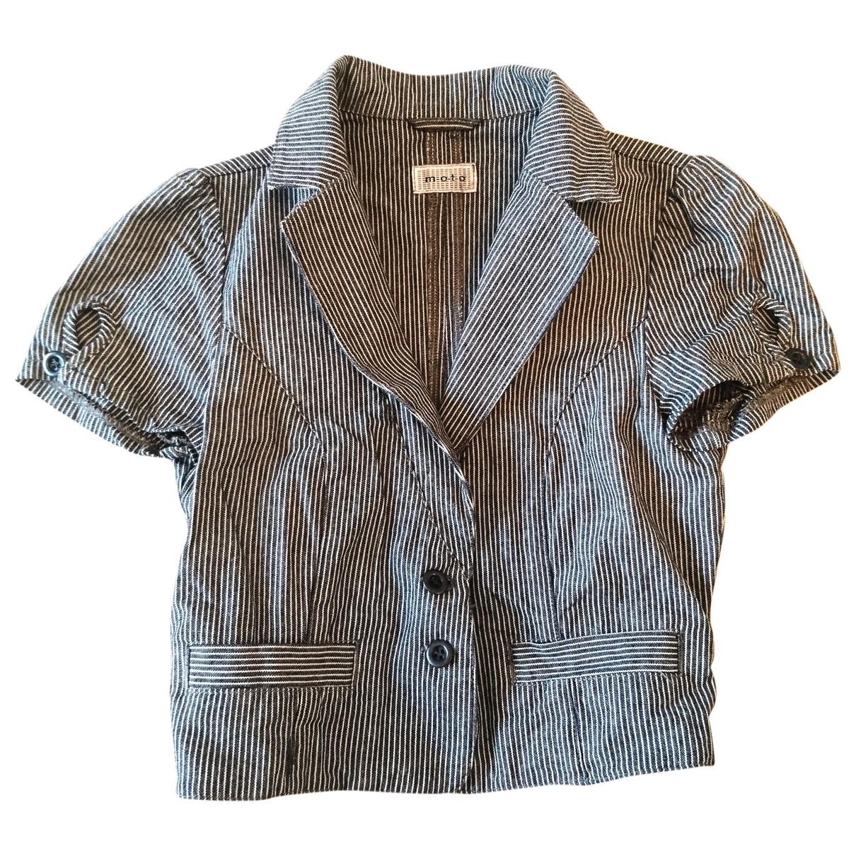 Urban Outfitters - Veste   pour femme en coton - bleu