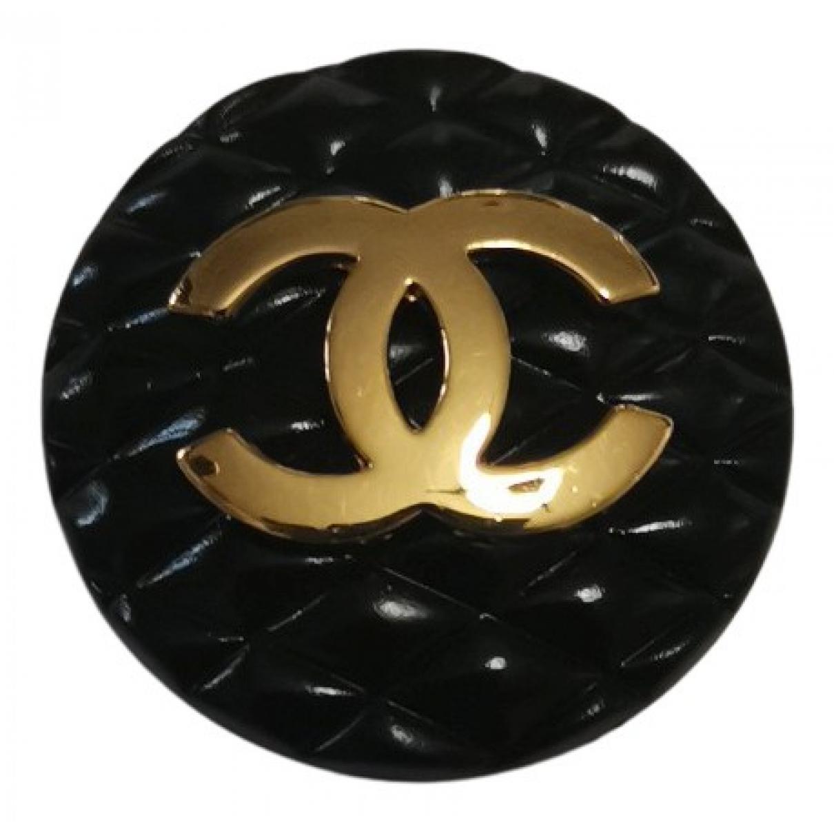 Chanel CC Black Earrings for Women N