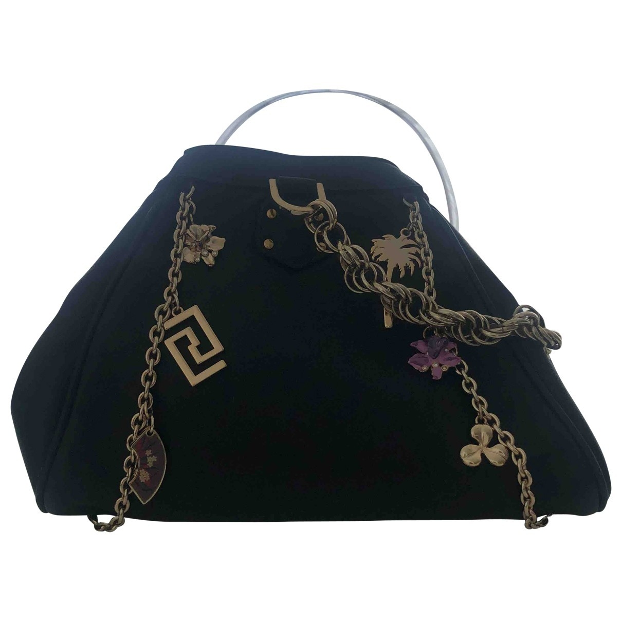 Versace X H&m \N Handtasche in  Schwarz Leder
