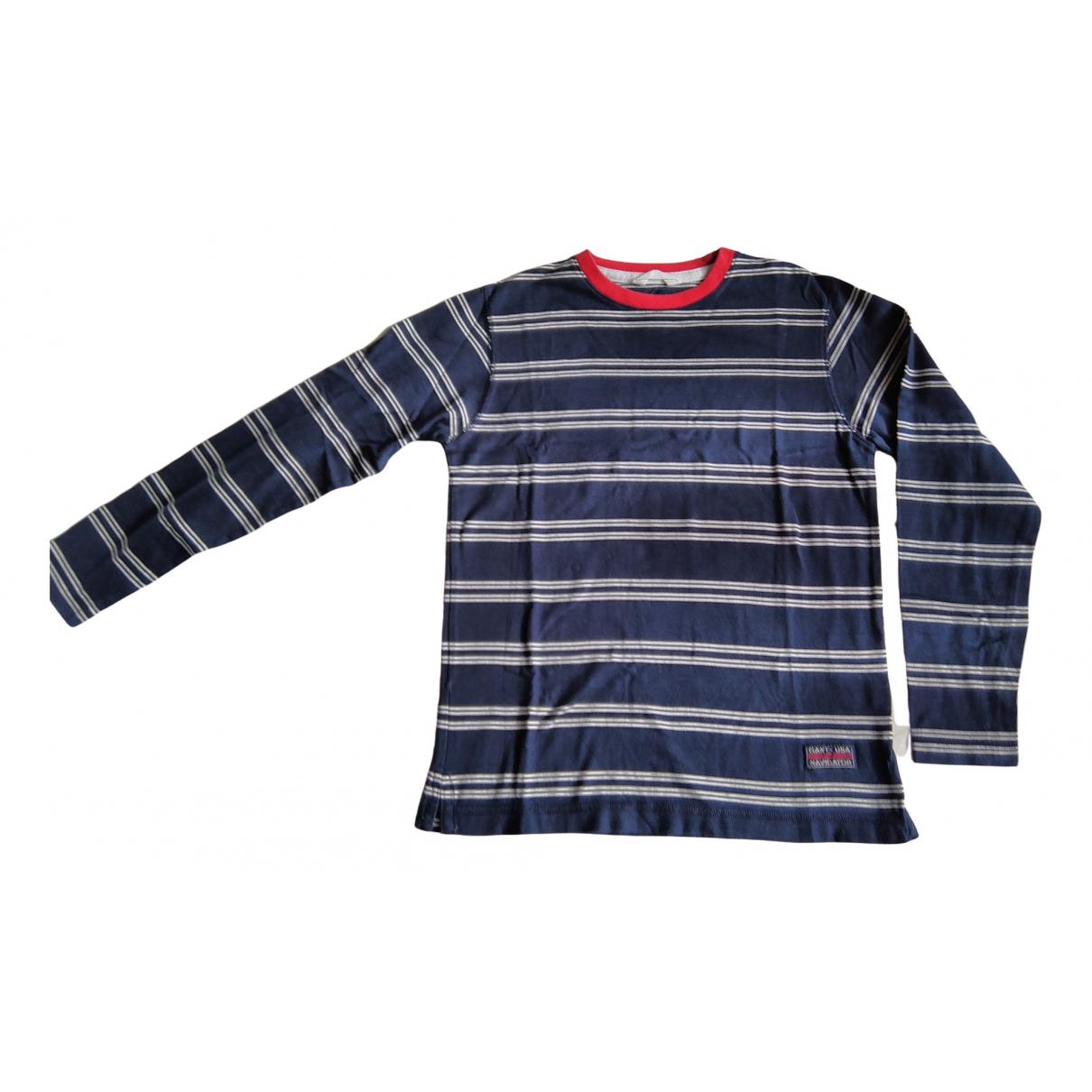 Gant - Top   pour enfant en coton - marine