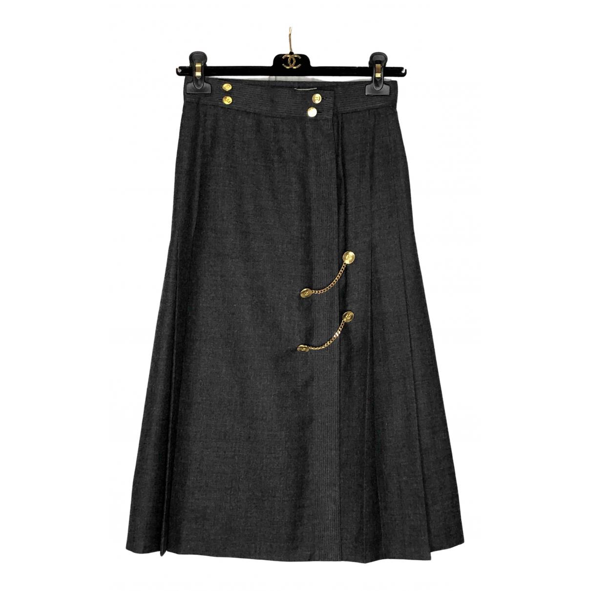 Chanel - Jupe   pour femme en laine - gris