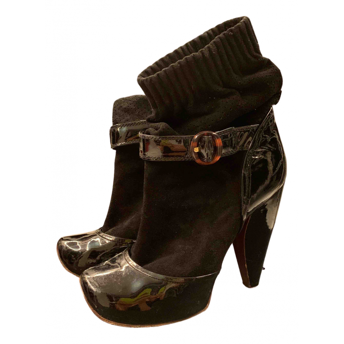 Marc Jacobs \N Black Suede Ankle boots for Women 39 EU
