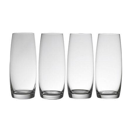 Mikasa Julie Stemless Flute 4-pc. Drinkware Set, One Size , Multiple Colors