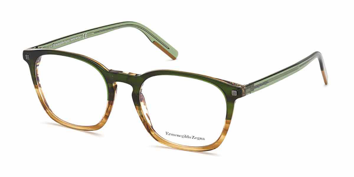 Ermenegildo Zegna EZ5202 047 Men's Glasses Brown Size 53 - Free Lenses - HSA/FSA Insurance - Blue Light Block Available