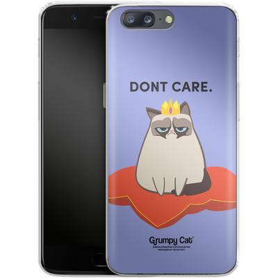 OnePlus 5 Silikon Handyhuelle - Dont Care von Grumpy Cat