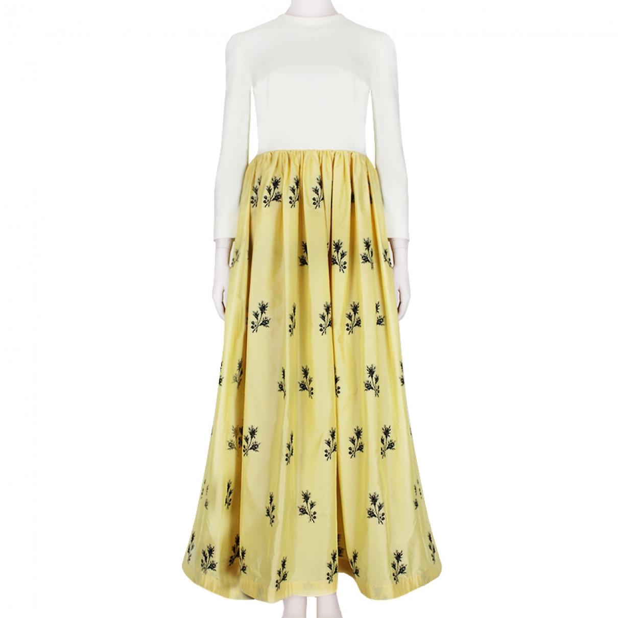 Alessandra Rich \N Kleid in  Gelb Seide